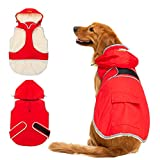 SCIROKKO Dog Winter Coat with Removable Hat - Waterproof and Reflective Cold Weather Jacket Hoodie for Large Dog