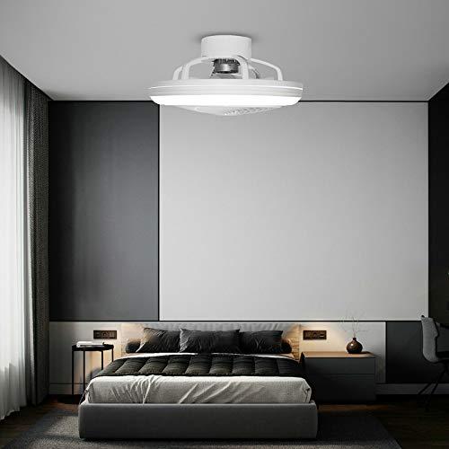 Ventilador de techo con iluminación LED, 64 W, lámpara de techo + mando a distancia