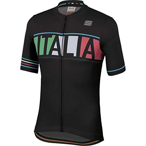 Sportful Italia Jersey (Negro, M)