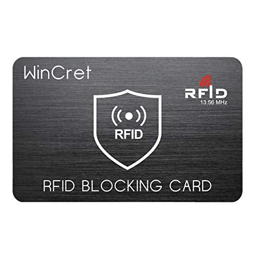 WinCret RFID Blocker NFC Schutzkarte - Störsender - Eine RFID Blocker Karte Blockiert Alle RFID/NFC-Signale von Kreditkarten, Personalausweis, Reisepass, EC-Karte
