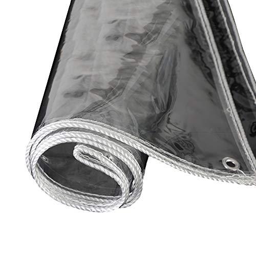 WUZMING Étanche Bâche Transparente avec Oeillets À Toute Épreuve PVC Transparent Imperméabiliser Bâche Pliable Jardin Auvent Végétal, 400g / M² (Color : Clair, Size : 2.5x5m)