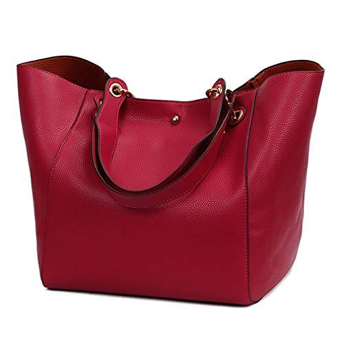 Pahajim moda PU cuero bolsos impermeables superior manejar bolsos de la taleguilla del bolso de hombro de las mujeres bolsas de hombro bolsa de hombro
