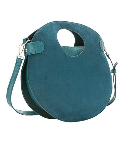 SIX Runde Tasche, variabel tragbar, Petrol, Handtasche (726-858)