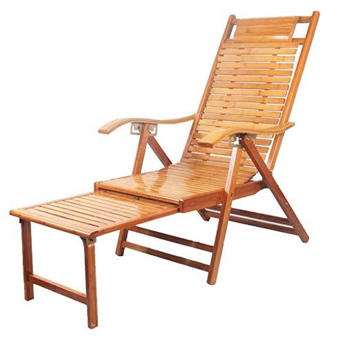 WJJJ Klappsessel Liegestuhl Entspannungsstuhl Verstellbarer Stuhl Hochlehner Hochstuhl für ältere Menschen mit längerer Beinstütze