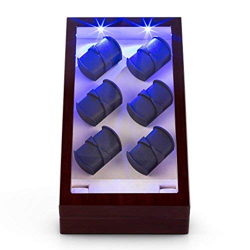 Klarstein Klingenthal carica orologi automatici (per 12 orologi, illuminazione a LED, vetrina trasparente, 3 modalità di rotazione) - mogano