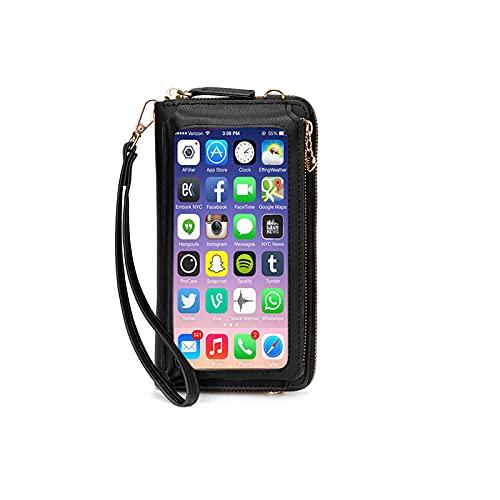 Women Touch Screen Wristlet Handbag, RFID Protection Small Crossbody Bag Phone Wallets Purse