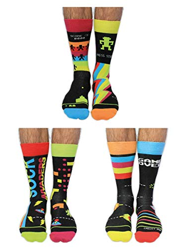 Sock Invaders United Oddsocks, 6 Oddsocks, para hombre, multicolor, 39  46 EU 7...