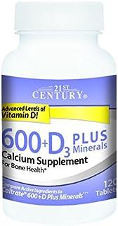 21st Century Calcium 600 Plus D Plus Minerals Caplets, 120 Count