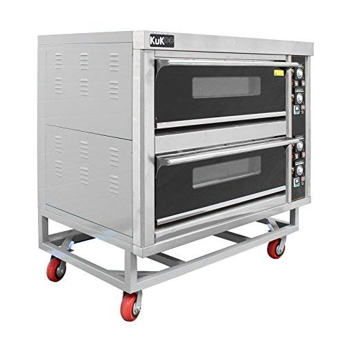 Commercial Baking & Pizza Oven/Large Twin Deck Stone Base Restaurant Takeaway Catering/Electric Three Single Phase
