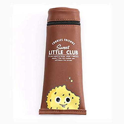 No/Brand Big PU Cuoio Pencil Bag Pasta Dente Formata Cuddy School Pen Holder Stationery Pencilice Office Forniture