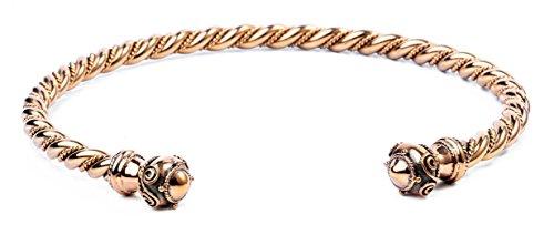 WINDALF Männer Torques THÛRIN Ø 14.5 cm Massiver Halsring Paganschmuck Handarbeit aus Bronze