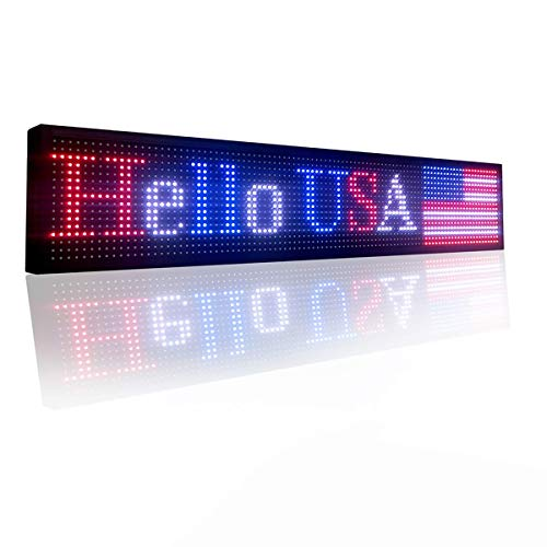 """P10 Indoor full color led sign 40"""" x 8"""" with high resolution programmable led scrolling display for advertising"""