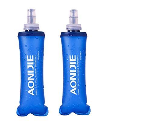 Win.Deeper Plegable Deportes BPA Libre de PVC Suave Agua Corriente Eléctrica Suave Flask Botella de Hidratación- para Correr Ciclismo de Senderismo