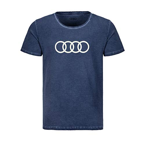 Audi T-Shirt Ringe, Herren, blau, XXL