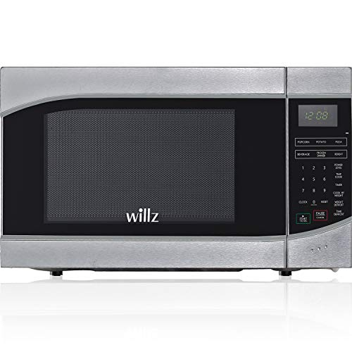 Willz WLCMH609S2-09 Countertop Microwave Oven, 6 Cooking Programs, LED Lighting Push Button, 0.9 Cu Ft, Stainless Steel