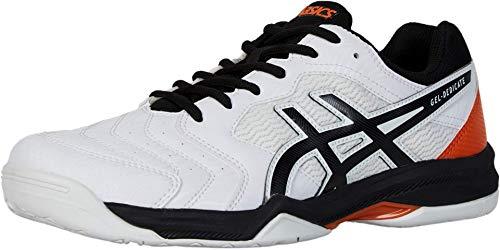 ASICS Men's Gel-Dedicate 6 Tennis Shoes, 11.5M, White/Black