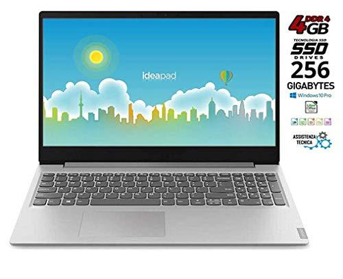 Lenovo Ideapad - Ordenador portátil 15.6' (AMD A4-9125, 4GB de RAM, 256 GB SSD, AMD Radeon Graphics, Windows 10 Professional) Gris Teclado QWERTY italiano