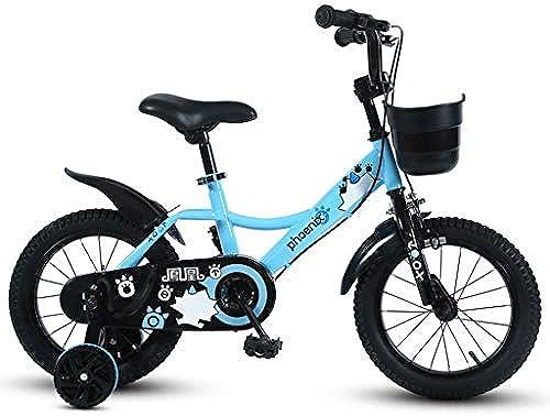 TLMYDD Kinderfahrrad 2-3-5-7-9 Jahre Junge Fahrrad 12 14 16 18 Zoll Kinder Dreirad Mountainbike Blau (Größe   18 inches)