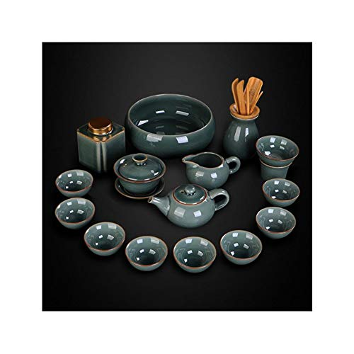 Juego de té chino de Baiyiq. Tetera de cristal con infusor, platillo y taza de té, juego de taza y platillo, juego de tetera, tetera, taza de té, taza de té, taza de té, taza de té, taza de té y té