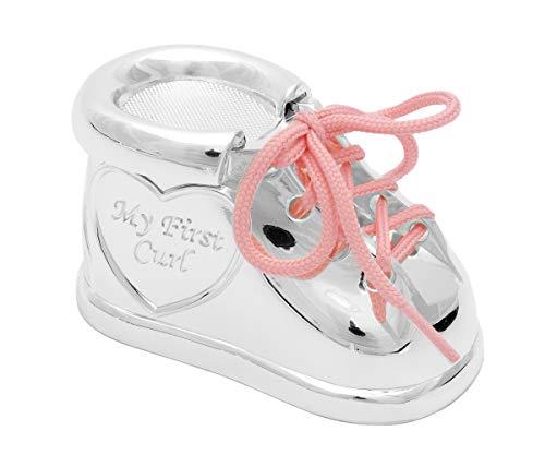 Brillibrum Design Lockendose Silber als Geschenk für Mädchen und Jungen Aufbewahrung Döschen für Haarsträhne Baby Geschenk Tauf & Geburt