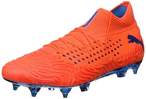 PUMA Future 19.1 Netfit MX SG, Scarpe da Calcio Uomo, Rosso (Red Blast-Bleu Azur), 46 EU