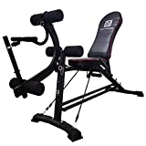EASY BIG Multifunctional Weight Bench, Adjustable Strength Training Bench for Home Gym Full Body Workout Equipment (Black)