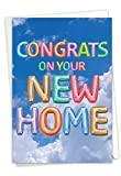 NobleWorks, Inflated Messages - New Home Greeting Card with Envelope -, New Home C5651NNHG