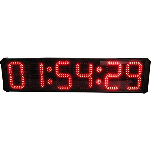 Huangjiahao Led-interval-timer, oversized formaat, 8 inch (8 inch), 6-cijferige led-evenementtimer, aftellen/up klok jumbo-display met afstandsbediening voor thuis, gym, fitness voor sportverenigingen.