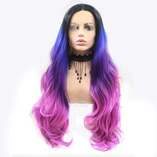 L.W.S Wigs Wigs Wig European And American Wig Female Color Multicolor Mixed Color Long Curly Hair Hand Woven Front Lace Chemical Fiber Wig Wigs