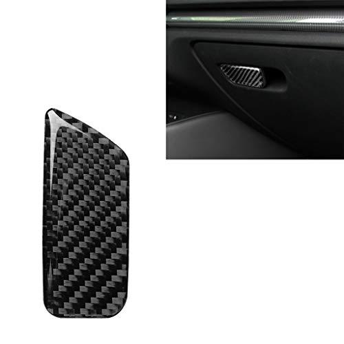 Molduras interiores del coche Etiqueta decorativa del interruptor de la caja de mano del asiento del pasajero de fibra de carbono del coche para Audi A3 / 8V 2014-2019, conducción a la izquierda