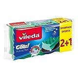 Vileda Glitzi Pure Active Set de 3 esponjas ollas y sartenes especiales