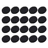 Healifty Botones de Metal Bricolaje Botones de Costura de Abrigo para Tela 30Pcs 18Mm (Negro)