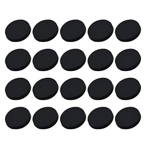 Healifty - 30 botones de metal redondos planos, diseño de botones, para manualidades, 20 mm, color dorado, negro, JZ852GPE1JV40CQ10O4I8