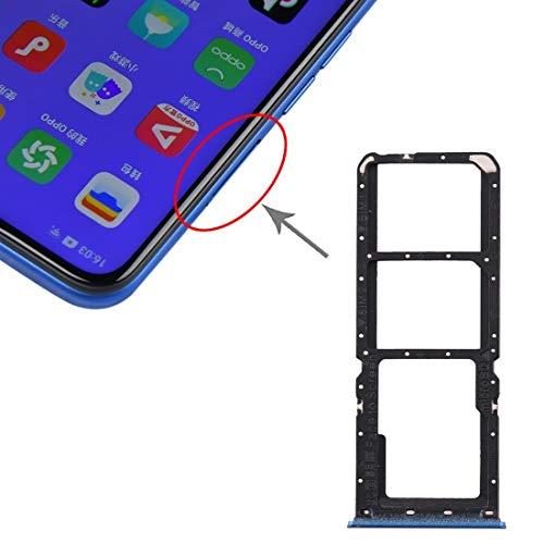 HDZ AYDD - Bandeja para tarjetas SIM + bandeja para tarjetas SIM + bandeja para tarjetas Micro SD para OPPO A11x/A11/A9 (2020)/A5 (2020) (color azul)