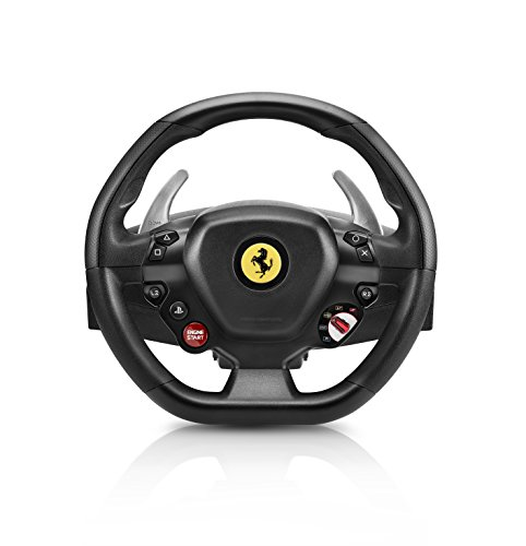 Thrustmaster T80 Ferrari 488 GTB Edition Racing Wheel (PS4, PC) Works with PS5 Games