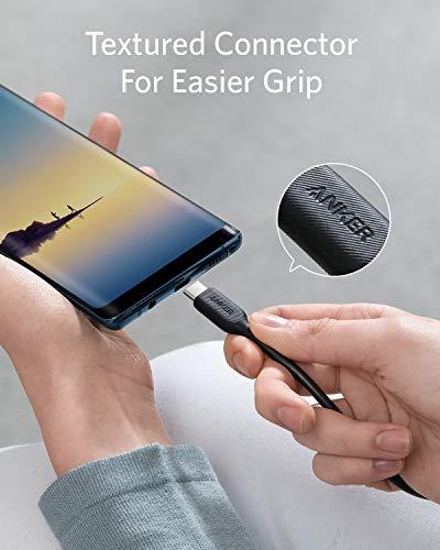 Anker Powerline III USB-C auf USB-C Ladekabel, 3m langes blitzschnelles Ladekabel mit 60W Power Delivery PD für MacBook, iPad Pro 2020, Galaxy S10 Plus S9 S8 Plus, Pixel, und viele mehr
