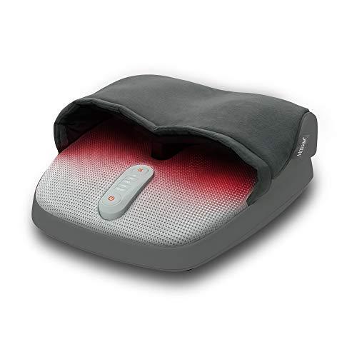 Medisana FM 885 Shiatsu masajeador de pies, eléctrico, función luz roja, función calentamiento, 3 velocidades, masaje Shiatsu que mejora la circulación y masaje de compresión