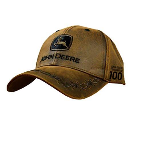 John Deere 100 Year Anniversary Oilskin Look Patch Casual Cap