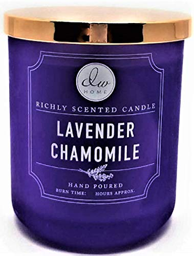 DW Home Richly Scented Candle Lavender Chamomile in Large Matte Purple Tumbler with Lid