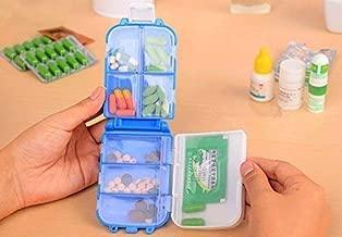 Success Stationery 8 Cells Storage Folding Portable Pill Organizer Medicine Box