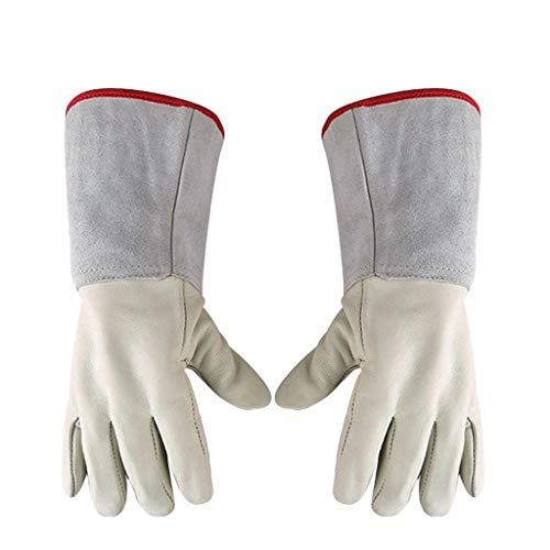 LSLMCS Wasserdichte flüssige Stickstoff-Schutzhandschuhe aus Rindsleder Niedrige Temperaturbeständigkeit Kryogene Arbeitshandschuhe (größe : L 45cm)
