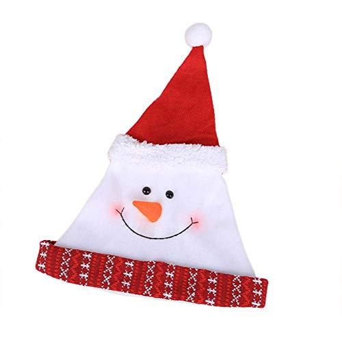 Brownrolly lichte kerstmuts voor volwassenen, leuke kerstman-kapjes, carikatuur, hoeden, feestdagen en levert decoratief