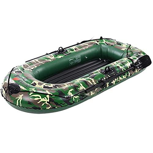 SJTL Balsa de Barco, Juego Inflable Seahawk, 2/3/4 Personas, Botes inflables de Remo para Adultos de Goma, Kayak, Canoa, Bote de Deriva Plegable Resistente a desgarros,4 People
