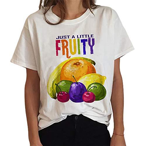 Haooyeah Love is Love-Lesbian Gay Bisexual LGBTQ Camiseta de Mujer Top Cuello Redondo Cómodo Casual Manga Corta