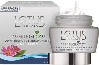 Lotus Herbals Whiteglow Skin Whitening & Brightening Nourishing Night creme (60g)