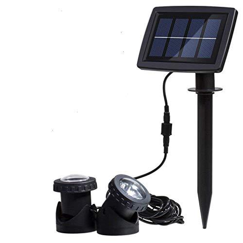 Solar Spotlight Licht,SUAVER Wasserdicht Strahler LED Außen Unterwasser Scheinwerfer Solar-Gartenleuchte Landschafts beleuchtung für...