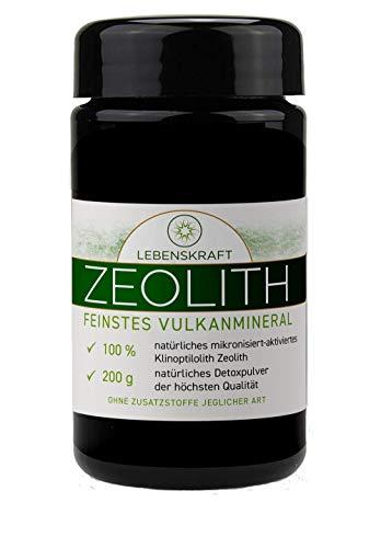 Lebenskraft Zeolith Pulver 200g Glas, Klinoptilolith aus europäischem Vulkangestein ultrafein, mikronisiert, aktiviert