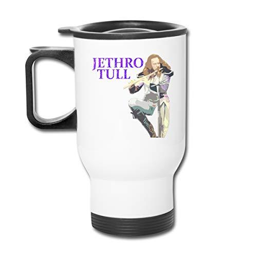 Jldoenh Udjgn Jethro Tull taza aislada taza de café taza a prueba de fugas taza de acero inoxidable unisex oficina viaje hogar