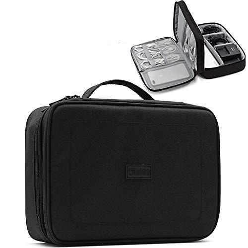 LNLJ Travel Cable Bag, Ultra-compact Electronics Gadget Organiser Case voor datakabels, opladers, stekkers, geheugenkaarten, CF-kaarten en meer