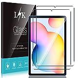 LϟK 2 Pack Protector de Pantalla Compatible con Samsung Galaxy Tab S6 Lite - Cristal Vidrio Templado - Dureza 9H Sin Burbujas Funda Compatible Kit Fácil de Instalar Doble Protección